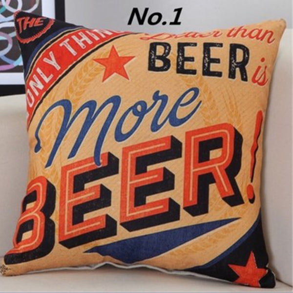 Retro More Beer Cushion