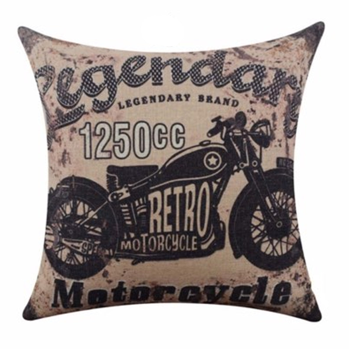 Retro Motorcycle Cushion
