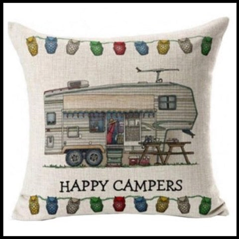 Happy Campers Cushion Pre-order