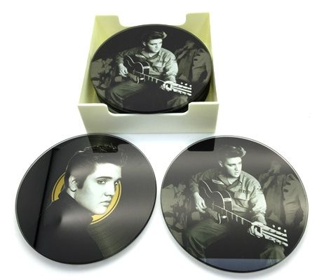 Elvis Glass Coasters