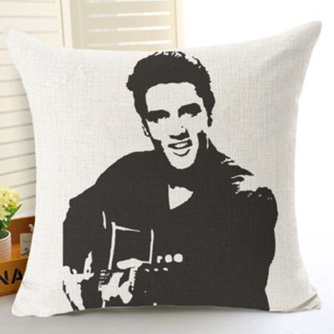 Elvis playing the Guitar Cushion Pre-order