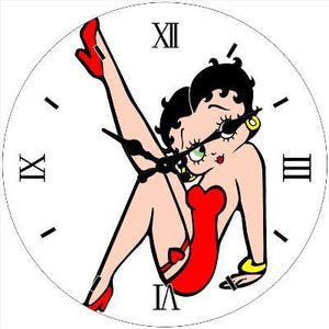 Betty Boop Glass Clock