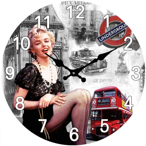 Marilyn Glass Clock