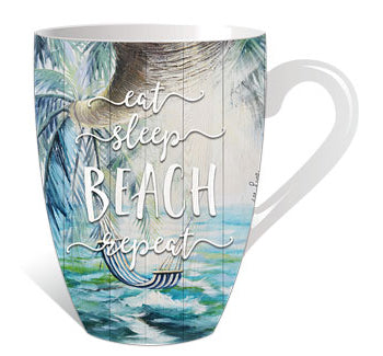Eat sleep beach repeat Mug
