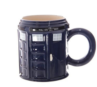 MUG DAKOTA POLICE BOX ROUND NAVY BLUE