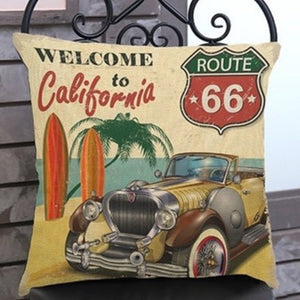 Route 66 Welcome to California Cushion Pre-order