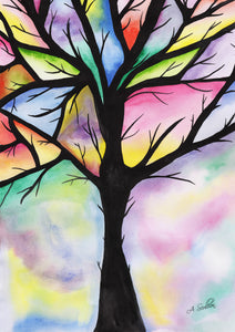 Tree of Life Watercolour Painting class FRIDAY 20/07/2018