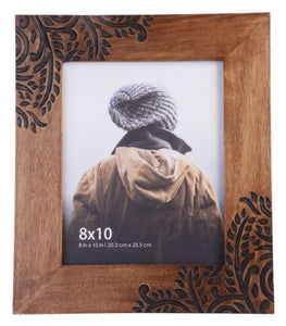 Walnut Leaf Photo Frame Large