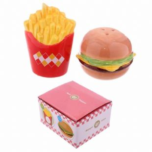 Burger and Fries Salt n Pepper Shakers