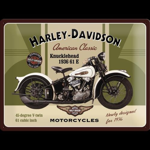Harley Davidson Knucklehead Tin Sign