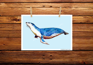 Seal Poly Art Print