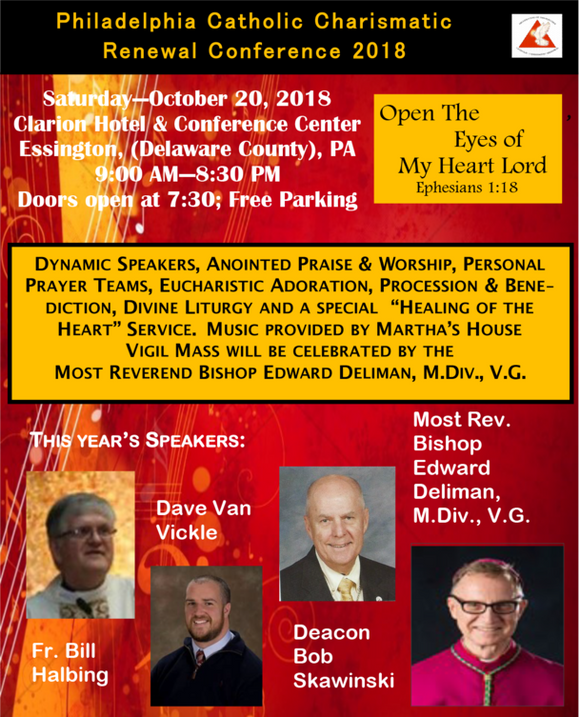 Philadelphia Catholic Charismatic Renewal Conference Oct 2018