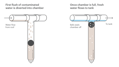 How the first flush works