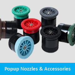 Popup nozzles and accessories
