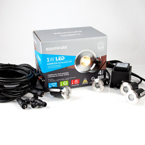 Elluminate 4 Piece Stainless Steel Deck Light Kit