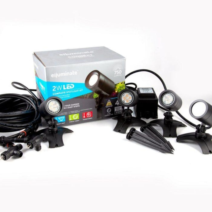 Elluminate 4 Piece Black Spot Light Kit