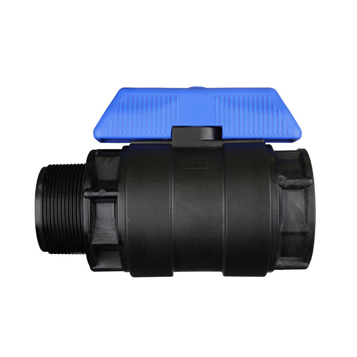 Hansen Plastic Full Flow Ball Valve MF (Blue Handle)