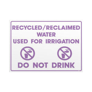 Recycled Water Signage