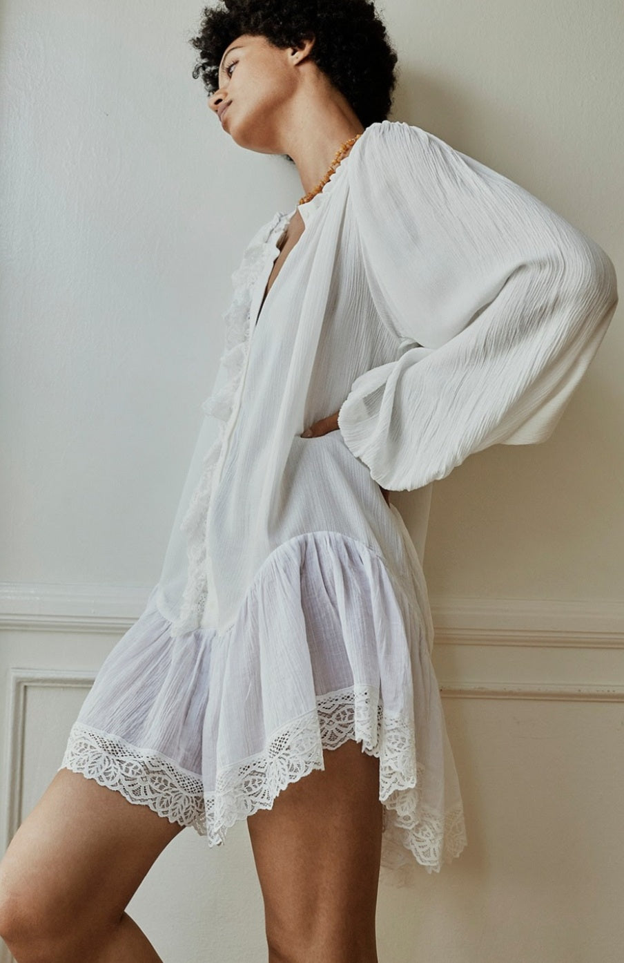 Nap Tunic in White - by Free People