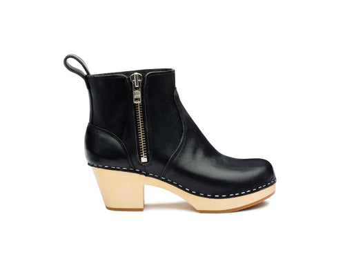 Zip It Shearling Boot by Swedish Hasbeens