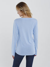 Luxe Evelyn Long Sleeve Boatneck Tee