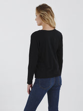 Long Sleeve Boxy Crew Neck Tee