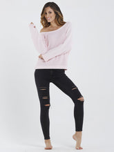 Cold-Shoulder Raglan Pullover