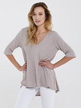 Scoop Neck Rib Jersey Tunic