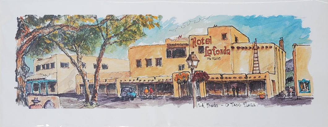 Hotel La Fonda, Taos New Mexico - Mark Engelien Art
