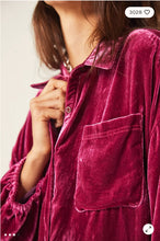 Lux Velvet Shirt Dress by Free People