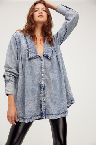 Charlie Denim Buttondown by Free People