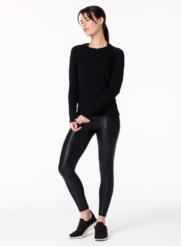 The Perf Legging in SHINE BLACK by NUX Active