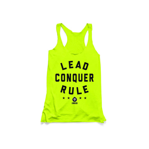 LADIES LEAD CONQUER RULE STARS TANK