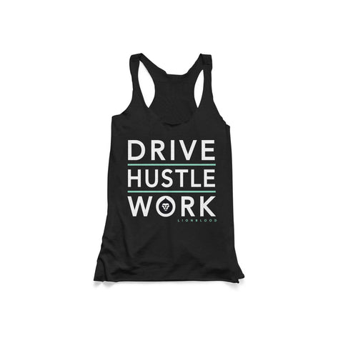 LADIES DRIVE HUSTLE WORK TANK