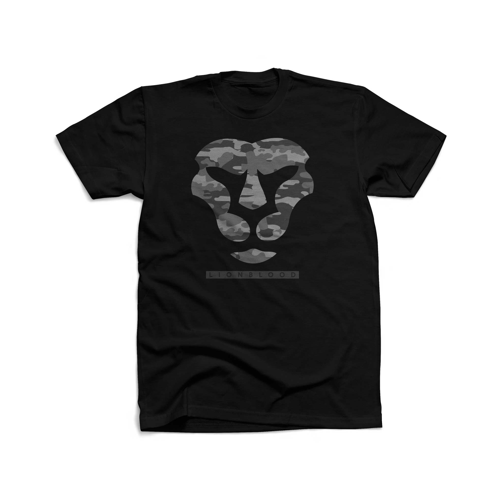 Camouflage Lionblood Lion Grey face T-Shirt king of the jungle