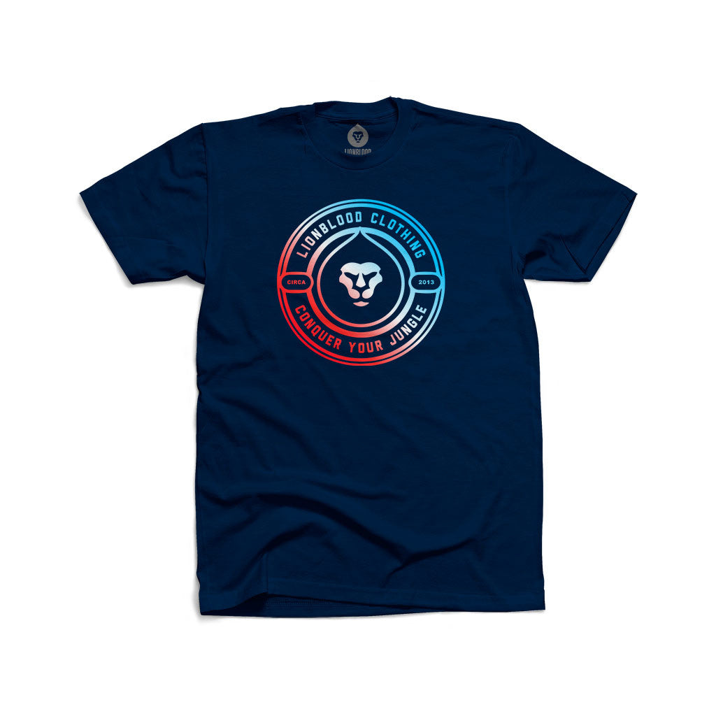 CONQUER CIRCLE RED WHITE & BLUE