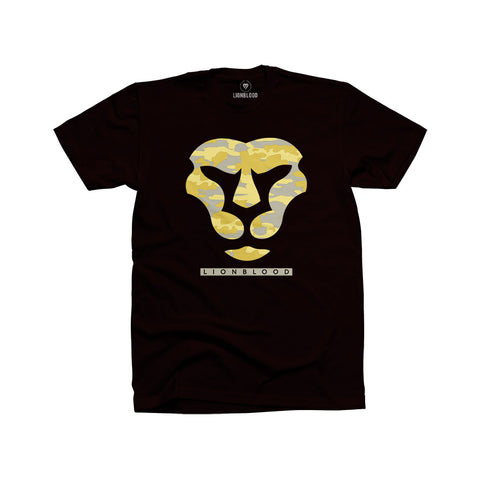 Camouflage Lionblood Lion Yellow face T-Shirt king of the jungle