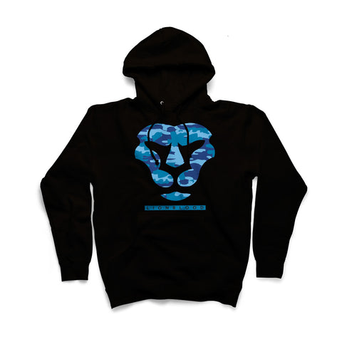 Camouflage Lionblood Lion Blue face hoodie king of the jungle