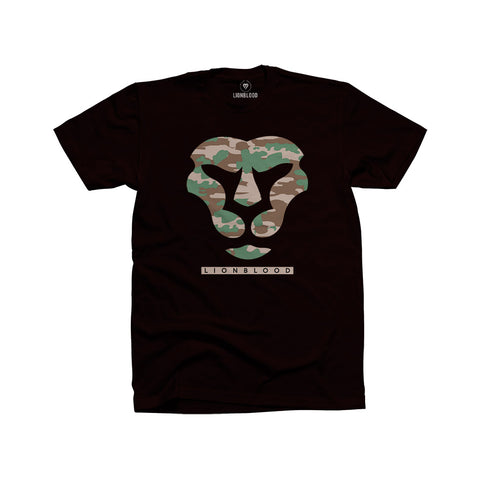 Camouflage Lionblood Lion Military face T-Shirt king of the jungle
