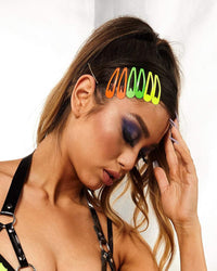 Rainbow Lover Hair Clip Set-Lifestyle
