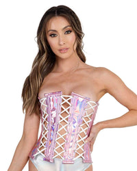 Daisy Corsets Shine On Lace Up Corset-Front--Hannah---S