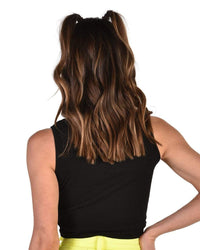 Not Ur Basic Knotted Tank-Black-Back