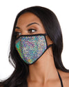 Pixelated Holo Face Mask-front