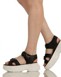 Just Groove Platform Sandals-Black-Side