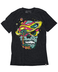 Skeleton Shores Men's Tee - Charcoal-Front