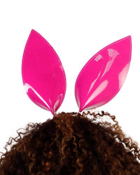Wild One Rainbow Bunny Ears-Silver-Rainbow-Back