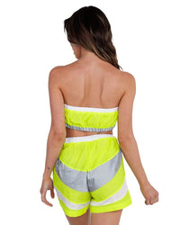 Speed it Up Reflective Shorts Set-Neon Yellow-Back--Hannah---S