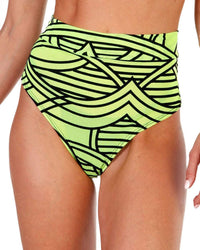 Cyber Kinetic Mesh Thong Bottoms-Front
