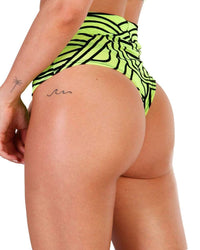 Cyber Kinetic Mesh Thong Bottoms-Side