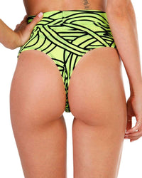 Cyber Kinetic Mesh Thong Bottoms-Back